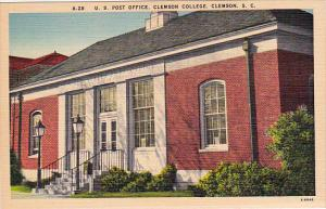 Post Office , Clemson College , South Carolina , 30-40s