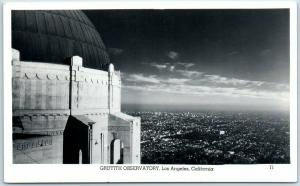 1940s Los Angeles, California Postcard GRIFFITH OBSERVATORY Panorama City View