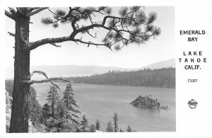 RPPC LAKE TAHOE, CA Emerald Bay California Vintage Frashers Postcard ca 1940s