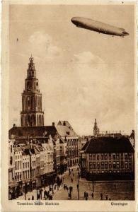 CPA GRONINGEN Tusschen belde Markten NETHERLANDS (604068)