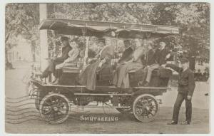 TORONTO CANADA 1907 ANTIQUE SIGHTSEEING BUS Postcard