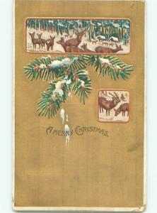 Divided-Back CHRISTMAS SCENE Great Postcard W9977