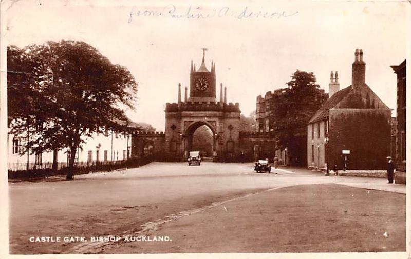 New Zealand Old Vintage Antique Post Card Castle Gate Bishop Auckland Postal ...