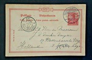 1901 Königswinter Germany To s Gravenhage Holland Vintage Postcard