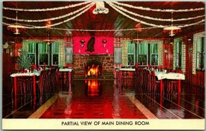 Thurmont, Maryland Postcard COZY RESTAURANT Main Dining Room Chrome c1960s