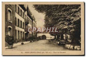 Old Postcard Mont Sainte Odile Convent courtyard