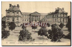 Old Postcard Prefecture Amiens Courthouse