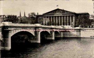 Paris 1 - Palace of L & # 39Assemblee National and Pont de la Concorde - Old ...