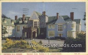 British Columbia, Canada Government House, Residence of Lieutenant Governor V...