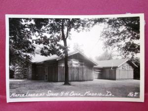 Old RPPC Postcard IA Madrid Maple Lodge at State 4H Camp