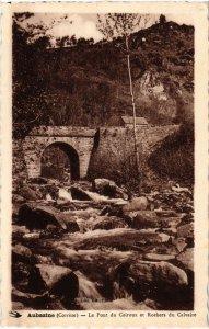 CPA Aubazine - Le Pont du Coiroux et Rochers du Calvaire (1039042)
