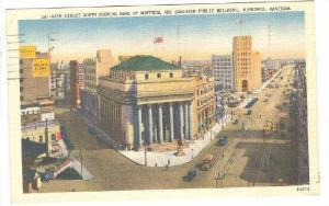 Main Street South Showing Bank Of Montreal & Dominion Public Building, Winnip...