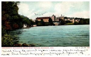 Wisconsin Madison , University from Boat House