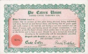 Vintage Arcade Card Pie Eaters Union
