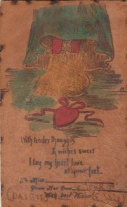 COMIC, Romance, PU-1905; With tender thoughts & wishes sweet I lay my heart ..