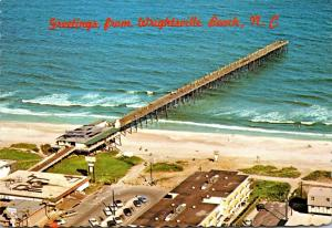 North Carolina Wrightsville Beach Greetings Showing Johnnie Merecr's Fis...