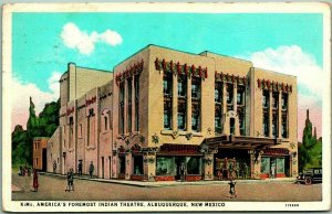1936 Albuquerque, New Mexico Postcard America's Foremost Indian Theatre