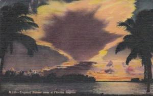 Florida Daytona Tropical Sunset Over A Florida Lagoon Curteich