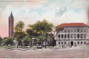 Library at Broad and Washington Streets - Newark NJ, New Jersey - pm 1909 - DB