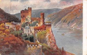 Pfalz Schloss Castle River Boats Bateaux Panorama Chateau