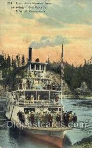 I.&W.N. Excursions Ferry Boats, Ship, Ships, Postcard Post Cards  Box Canyon