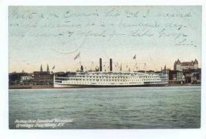 Hudson River Steamboat, Adirondack , Albany, New York, Pre 1905
