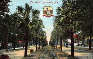 Main Street, Jacksonville, Florida, Early Postcard, Unused
