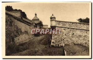Old Postcard Mont Louis pits and & # 39entree Citadel