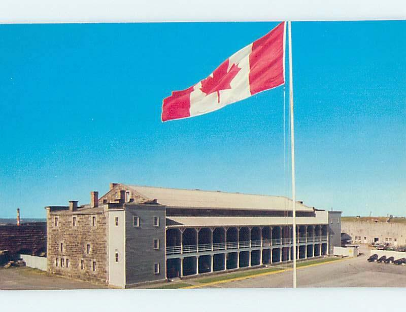 Unused Pre-1980 BIG CANADIAN FLAG AT THE CITADEL Halifax Nova Scotia NS F9971