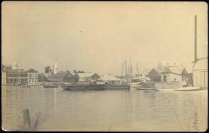 british honduras, BELIZE, Panorama from the Water (1910s) Frank Read RPPC (1)