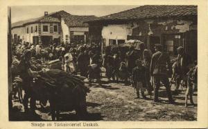 macedonia, SKOPJE ÜSKÜB UESKUEB, Street Scene in Turkish Quarter (1915)