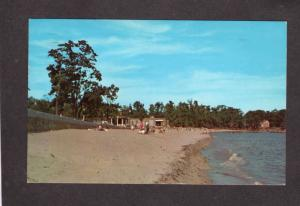MA Dane Street Beach Lyons Park Beverly Mass Massachusetts Postcard PC