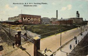 Oklahoma City Oklahoma Morris Packing Plant Antique Postcard K39010