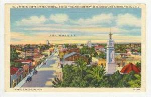 Aerial View, Main Street, Nuevo Laredo, Mexico, 30-40s
