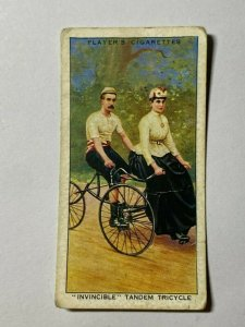 CIGARETTE CARD - PLAYERS CYCLING #15  INVINCIBLE TANDEM TRICYCLE    (UU214)
