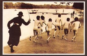 London Hyde Park, Boys will be boys, Illicit bathers Nostalgia Reprint