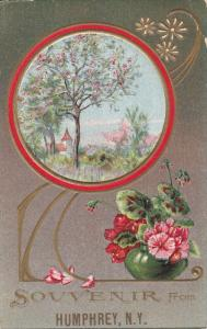 Flower Pot, Tree, HUMPHREY, New York, PU-1906