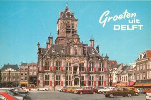 Netherlands, Groeten uit DELFT, 1970s unused Postcard