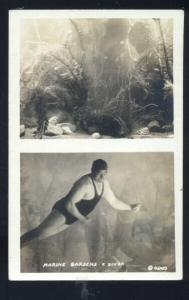 RPPC MARINE GARDENS DIVER DIVING VINTAGE UNDERWATER REAL PHOTO POSTCARD