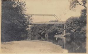 Blackwell Oklahoma~Chikaskia River~Man & Boy Standing Under Bridge~c1910 RPPC