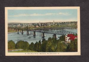 NB St John River Bridge Woodstock New Brunswick Canada Carte Postale Postcard