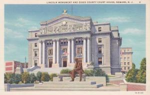 New Jersey Newark Lincoln Monument & Essex County Court House Curteich