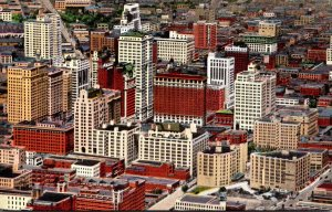 Texas Dallas Downtown Aerial View