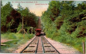 Mt Jefferson Plane Switchback Railroad Mauch Chunk PA Vintage Postcard R32