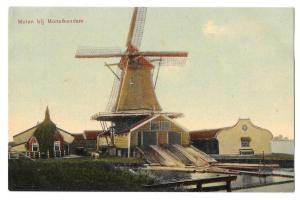 Netherlands Holland Molen Monnikendam Dutch Windmill Postcar