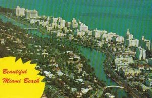 Florida Miami Beach Aerial View Looking North 1967