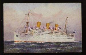 LS1502 - P&O Liner - Strathnaver - postcard - artist W Pearson