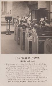 Victorian Orphan Hymn Church Pew Altar Christian Poem Antrque Poetry Songcard