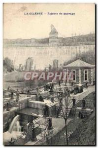 Belgium Belgie Old Postcard The Gileppe dam Locks