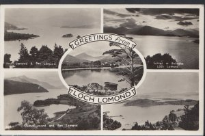 Scotland Postcard - Greetings From Loch Lomond    RT172